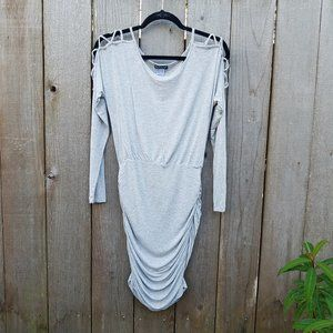 Venus Bodycon Rayon Ruched Dress - Size Small